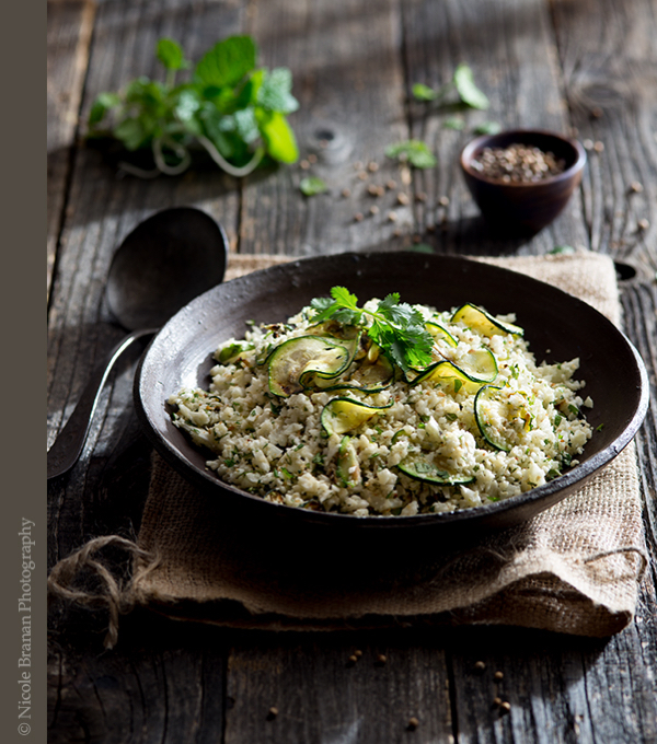Herbed-Roasted-Cauliflower-Rice-Coriander-Grilled-Zucchini-Recipe