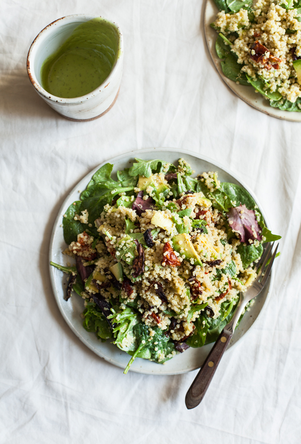 Quinoa BLT Salad with Shiitake Bacon | The Full Helping