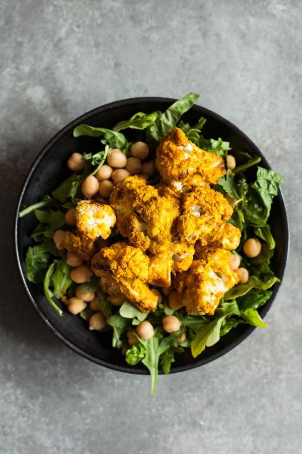 Tandoori Cauliflower Chickpea Bowls with Creamy Cashew Raita   The Full Helping