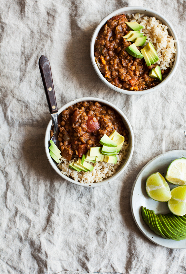 Slow Cooker Two Lentil Chili |The Full Helping