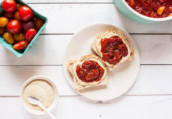 Super Versatile, Homemade Cherry Tomato Jam | The Full Helping