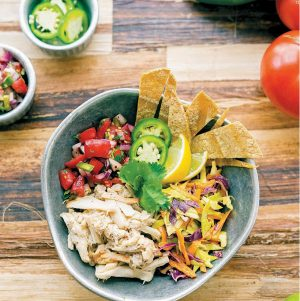 Vegan Fish Taco Bowl from Vegan Bowls Attack!