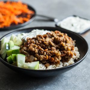 Slow Cooker Spiced Lentils and Cauliflower from Inspiralize Everything