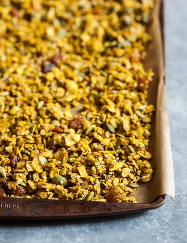 Savory Turmeric Spice Granola | The Full Helping