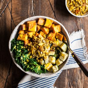 Sweet Potato Breakfast Bowls with Savory Granola
