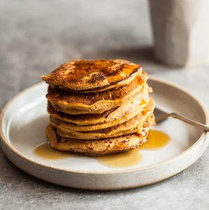 Sweet Potato Millet Pancakes | The Full Helping
