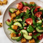 Vegan cornbread panzanella salad | The Full Helping