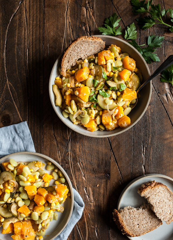 Autumn Lima Bean and Butternut Squash Succotash | The Full Helping