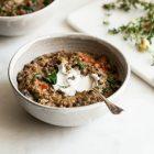 One Pot Italian Quinoa and Lentils | The Full Helping
