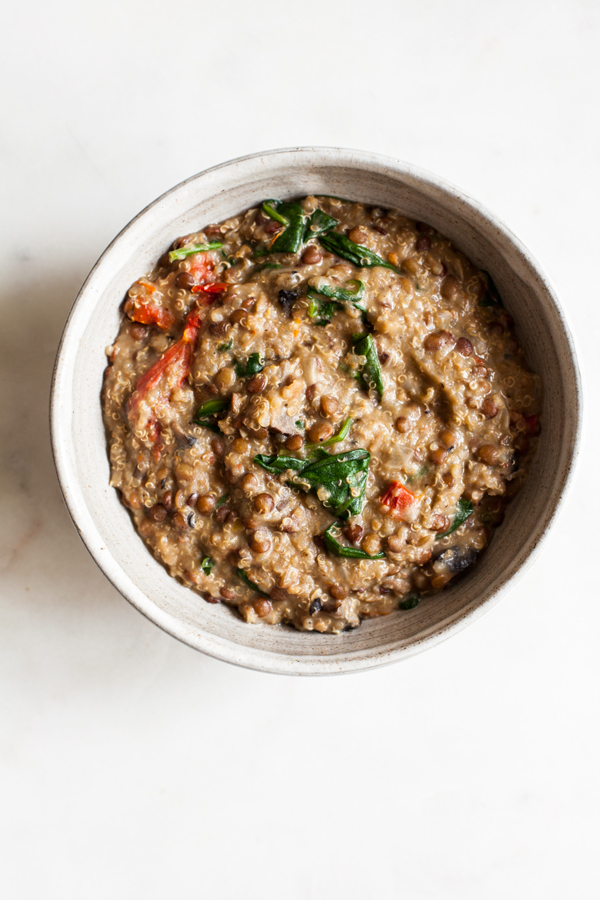 One Pot Italian Quinoa and Lentils | The Full Helping