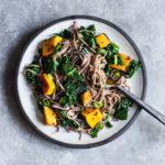 Kabocha & Kale Miso Sesame Soba Salad