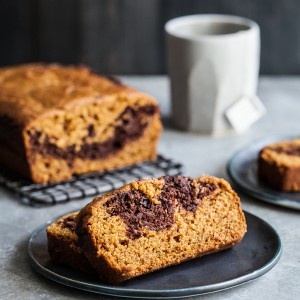 Vegan Pumpkin Chocolate Marble Loaf | The Full Helping