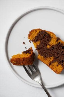 Pumpkin Chocolate Marble Loaf