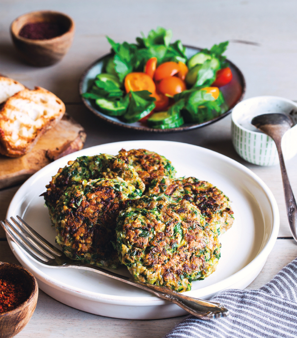 Maya Sozer's Vegan Zucchini Fritters | The Full Helping