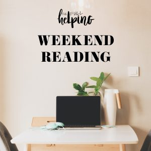 Weekend Reading, 10.30.16
