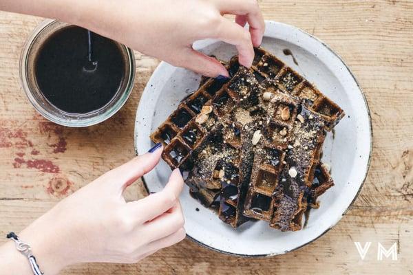 vegan-black-sesame-waffles