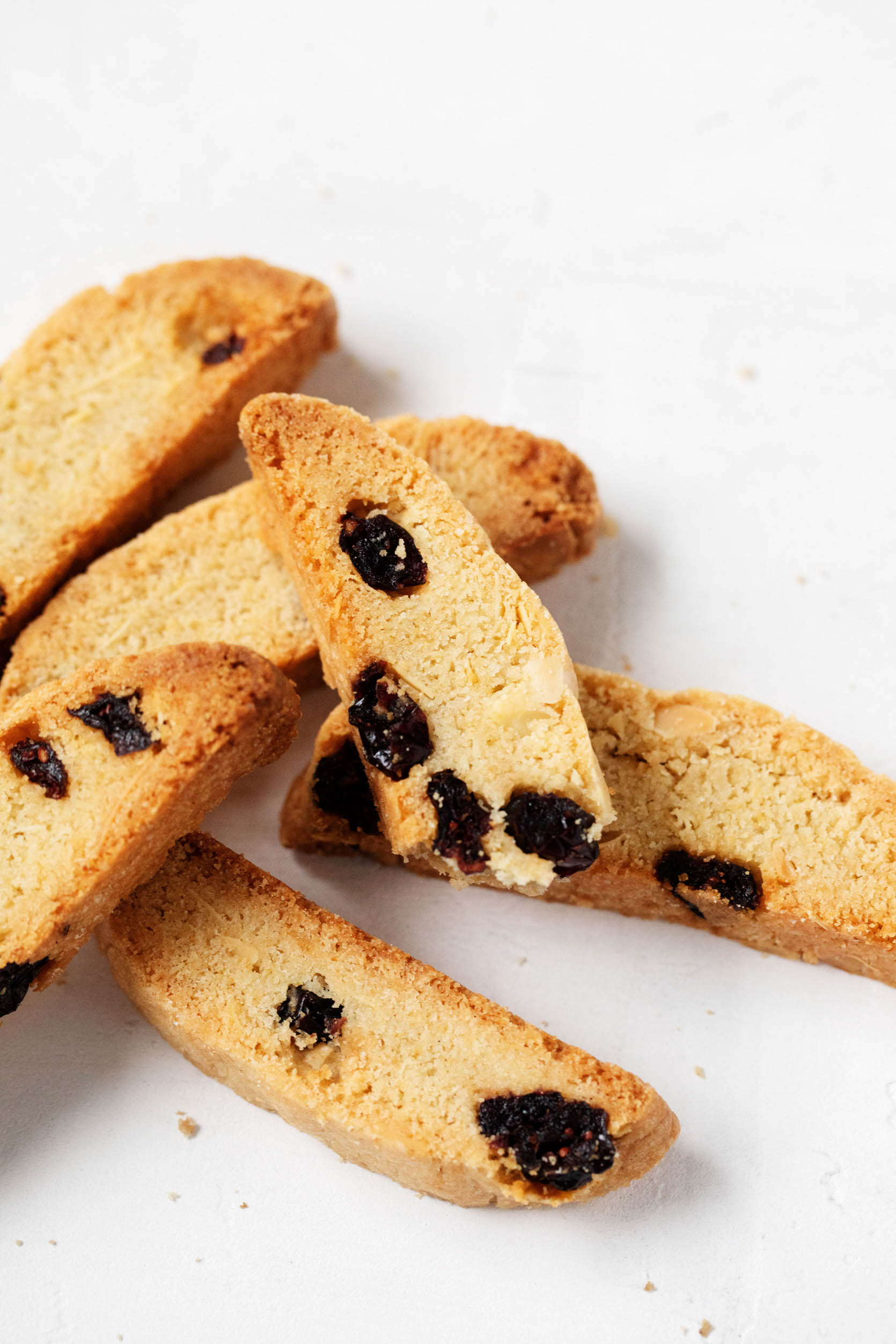 Vegan Cranberry Almond Biscotti | The Full Helping