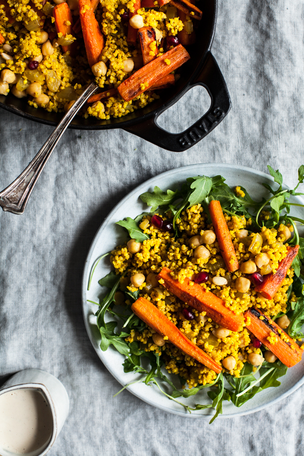 Moroccan Millet & Roasted Carrot Pilaf | The Full Helping