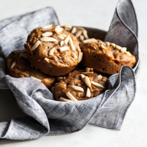 Chai Spiced Carrot Almond Muffins