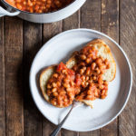Slow Cooker Tomato White Beans