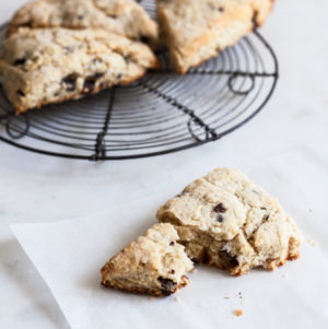 Vegan Dark Chocolate Cashew Cream Scones