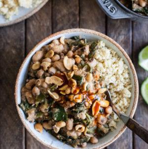 Peanutty stewed black-eyed peas & collard greens | The Full Helping