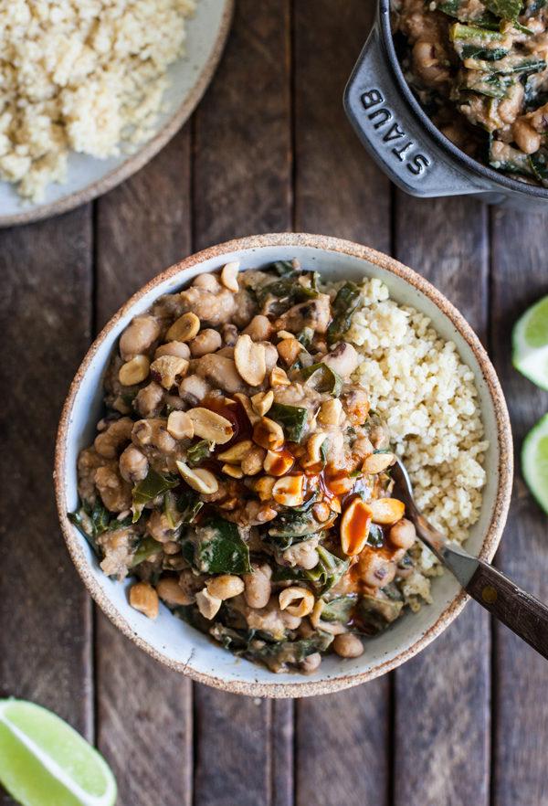 Peanutty stewed black-eyed peas & collard greens   The Full Helping