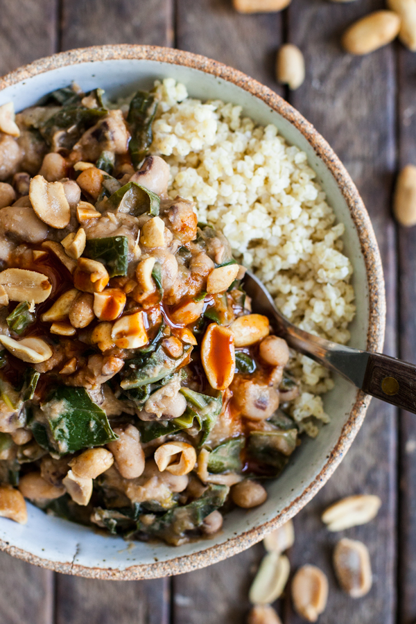 Peanutty Stewed Black-Eyed Peas & Collard Greens | The Full Helping