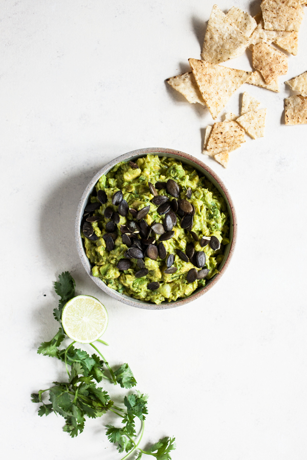 Kathryne Taylor's Best-Ever Guacamole with Toasted Pepitas & Chipotle Sauce | The Full Helping