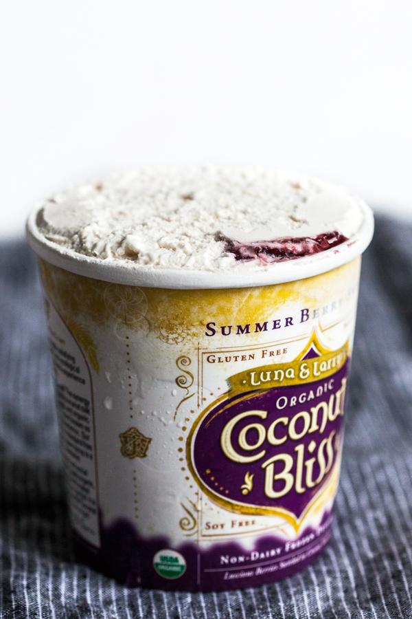 Mason Jar Trifles with Berry Swirl Ice Cream & Vegan Lemon Cake | The Full Helping