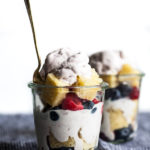 Mason Jar Trifles with Berry Swirl Ice Cream & Vegan Lemon Cake
