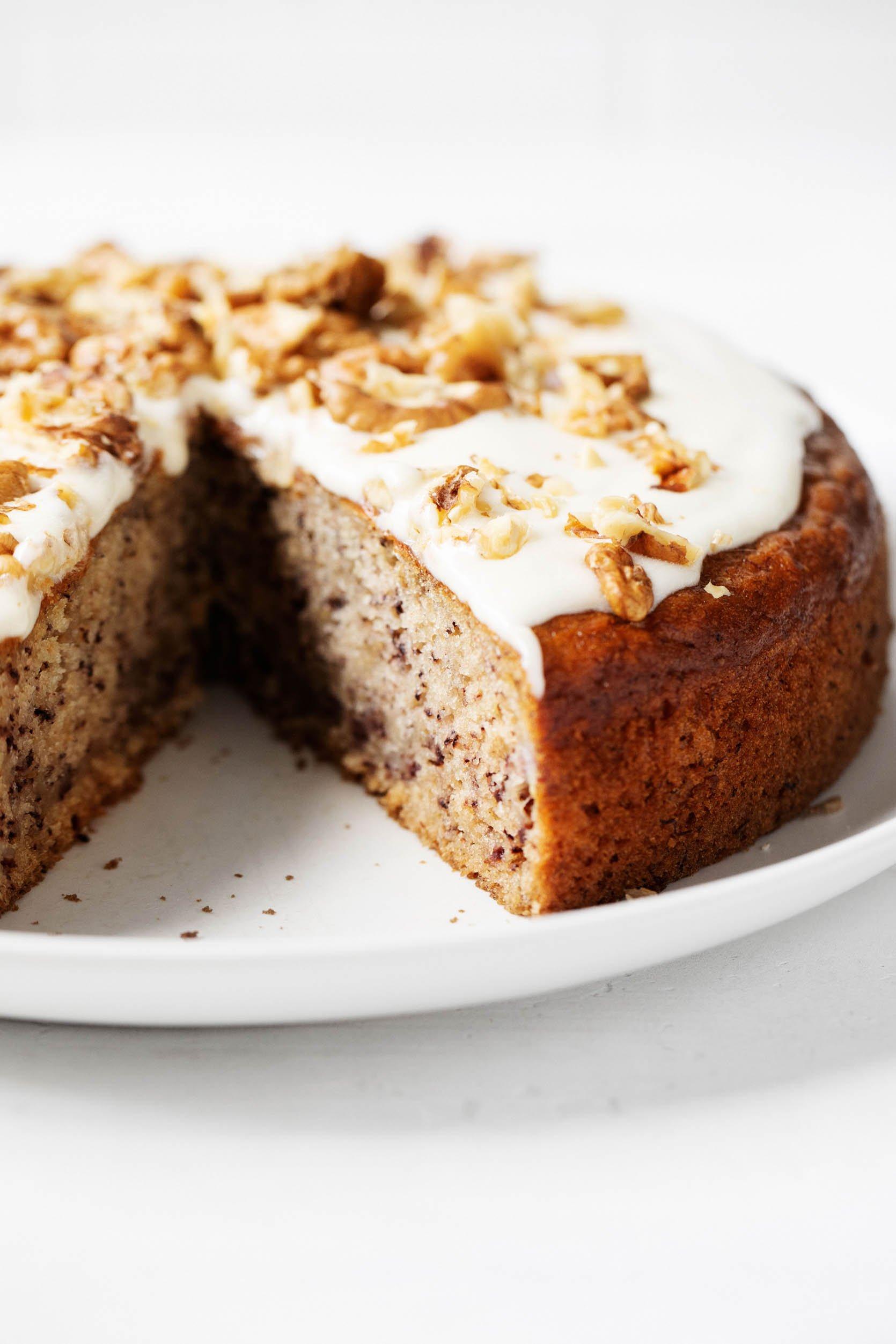 Vegan Banana Cake With Cashew Frosting A Nostalgic Cozy Treat