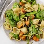 Butternut Zucchini Pesto Pasta | The Full Helping