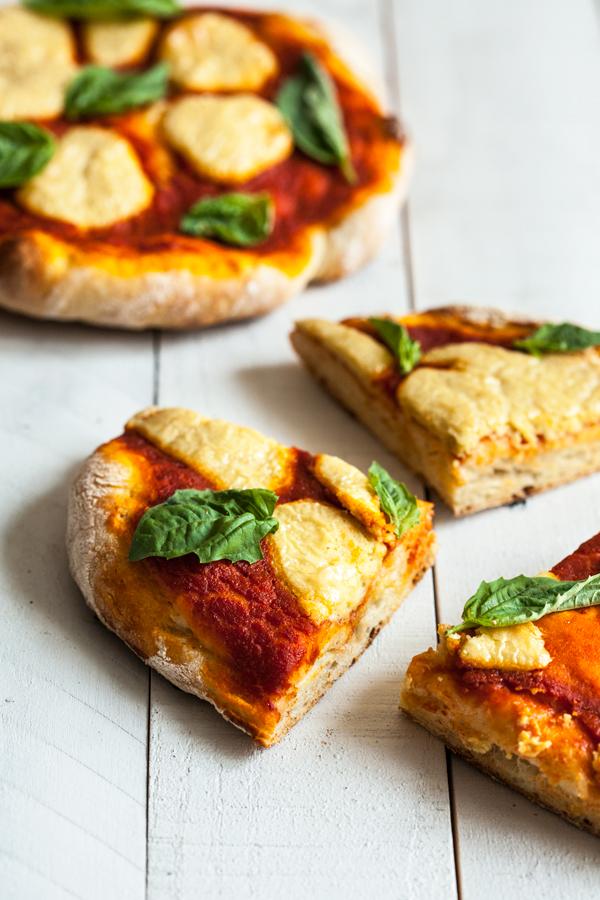 Perfect Vegan Pizza Margherita   The Full Helping