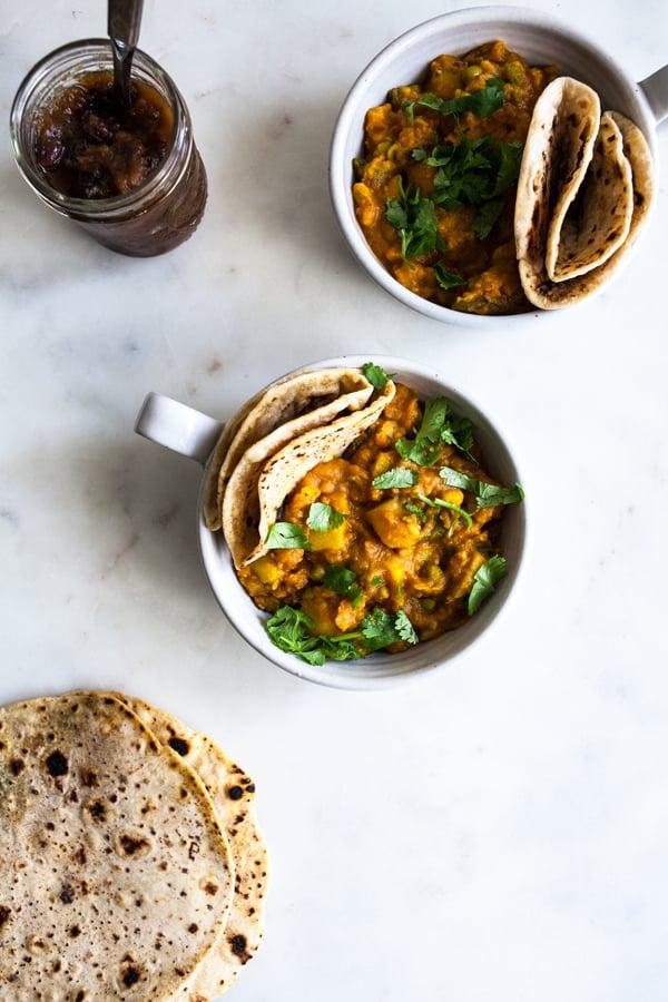 Richa Hingle's Bombay Potatoes & Peas | The Full Helping
