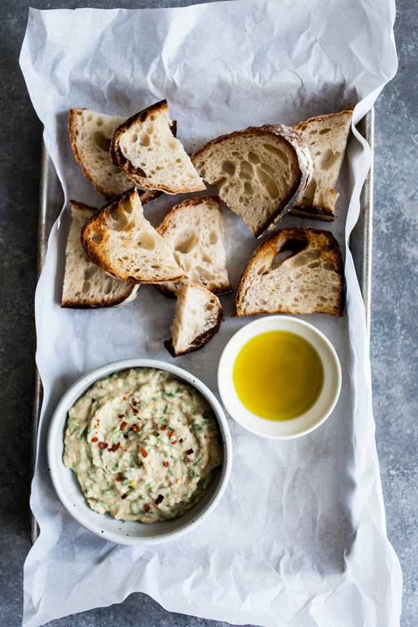 Emilie Raffa's Everyday Sourdough & Spicy White Bean Arugula Dip | The Full Helping
