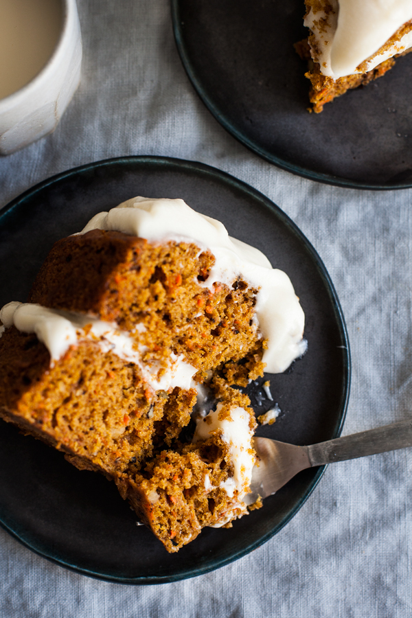 Vegan Pumpkin Spice Carrot Cake with Cream Cheese Frosting | The Full Helping