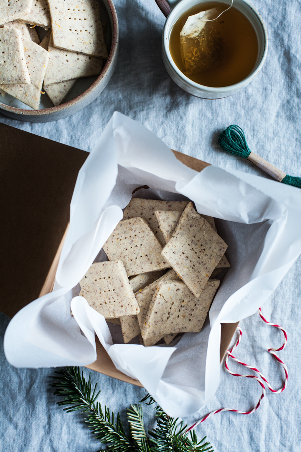 Vegan, Gluten-Free Holiday Citrus Shortbread | The Full Helping