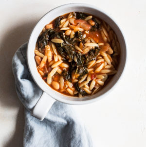 Tomato Orzo Soup with Kale