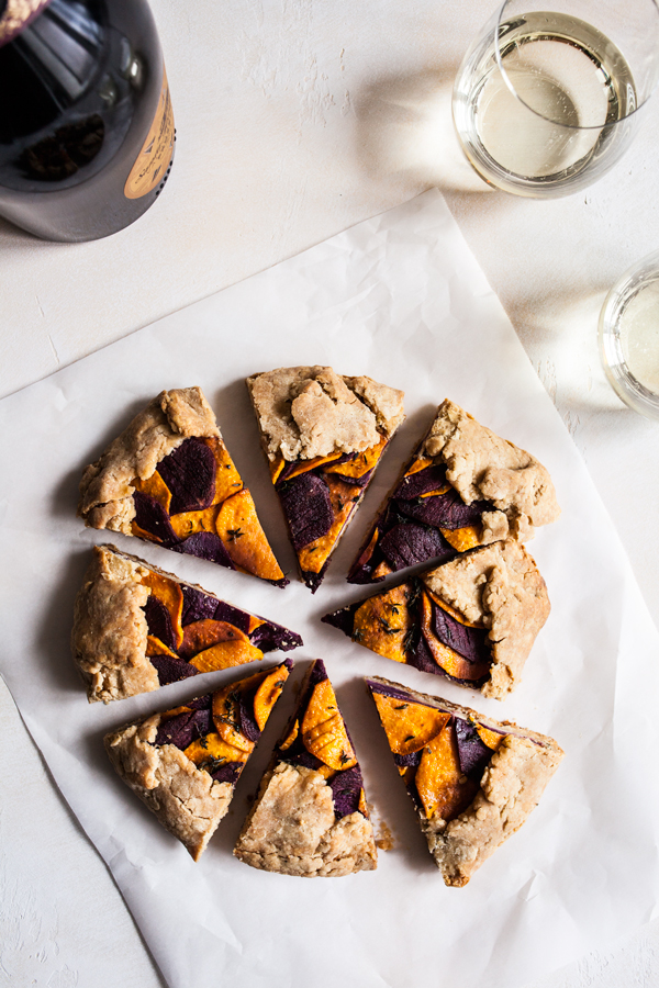 Sweet Potato Spelt Galette with Cashew Cheese | The Full Helping