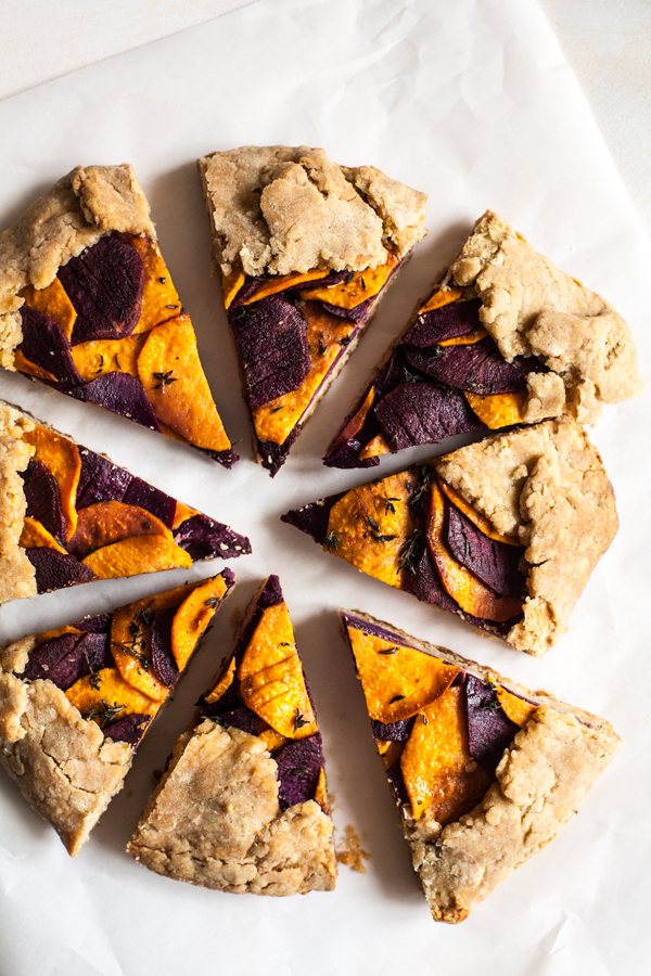 Sweet Potato Spelt Galette with Cashew Cheese