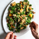 Maple Mustard Kale, Quinoa & Toasted Pecan Salad