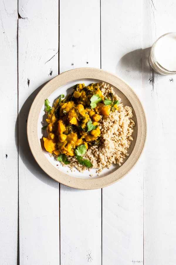 Curried Delicata Squash & Chickpeas | The Full Helping