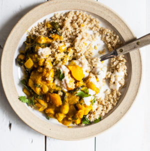 Curried Delicata Squash & Chickpeas