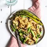 Vegan Barley Asparagus Mushroom Risotto