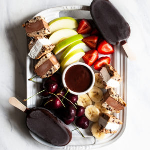 Vegan Chocolate Fondue Dessert Party Platter