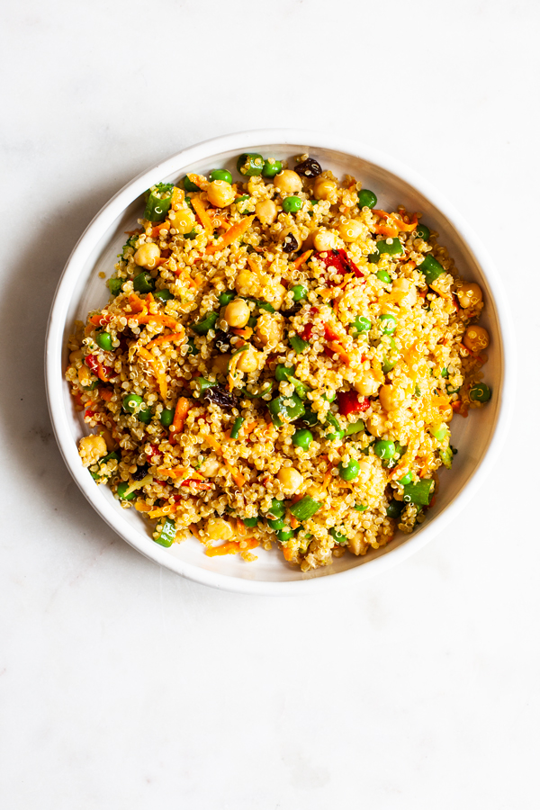 Low-Key Curried Quinoa Lunch Salad | The Full Helping