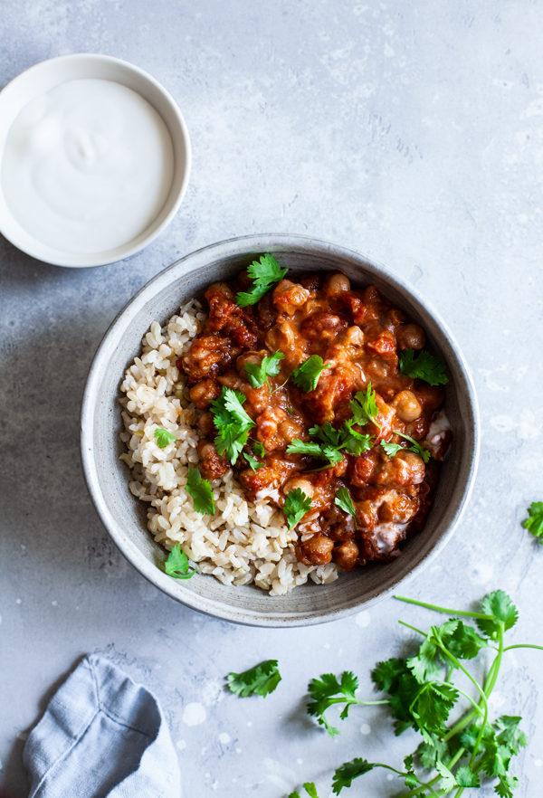 Simple Slow Cooker Chana Masala