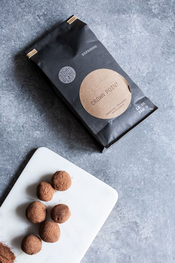 Vegan Cashew Espresso Truffles | The Full Helping