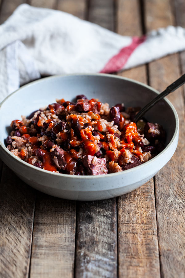 Slow Cooker Red Beans, Rice & Tofu